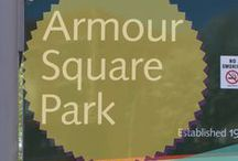 Armour Square Chicago / Also known as Armour Square or Park No. 3, is a park in Chicago, Illinois featuring Beaux Arts architecture, designed by D.H. Burnham and the Olmsted Brothers. The park was opened in March 1905,at a cost of $220,000. It was named after Philip Danforth Armour, philanthropist and captain of industry