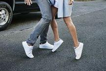 Sportwear & chic / Bookmarques automne 2015 / La tendance : La basket blanche