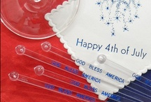 Patriotic Parties / Personalized party supplies and gifts for any Memorial Day, 4th of July, or Labor Day party / by The Stationery Studio
