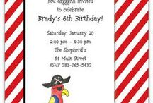 Pirate Party / Personalized pirate products and ideas for your little one.