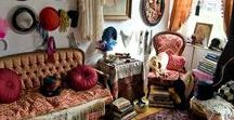 Boho Fae Spaces and Places / Bohemian spaces of peace and magic, Fae style.