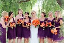 Weddings: Purple and Orange