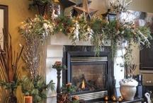 Mantles&Shelves Vignettes / Seasonal and Holiday mantle decorating*