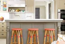 Colored kitchen islands / by Julie {The Hyper House}