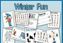 Winter Homeschool Fun and Snow Day Activities / Fun activities for children and families to do during the winter including snow day activities, homeschool projects, crafts, and food!