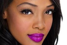 Purple Lipstick and Lip Gloss / Read more: http://www.blaqvixenbeauty.com/category/violet-tendencies/ / by Blaq Vixen Beauty
