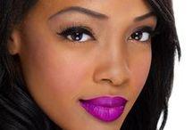 Purple Lipstick and Lip Gloss / Read more: http://www.blaqvixenbeauty.com/category/violet-tendencies/ / by Blaq Vixen Beauty