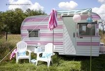 Inspired By: Glamping / I would love to have a little vintage camper. Unfortunately this board is probably as close as I will get.