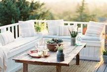 Outdoor Balconies and Decks / For the deck and balconies / by Julie {The Hyper House}