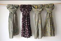chalinas / chalinas estampadas a mano  bla bla textiles