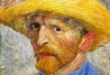 """Pinturas de Van Gogh / Vincent Willem Van Gogh foi um pintor holandês nascido em 30 de Março de 1853, considerado um dos artistas mais influentes dos últimos tempos, embora seu reconhecimento tenha se dado apenas depois de sua morte. Enquanto vivo vendeu apenas um quadro - """"O Vinhedo vermelho"""". Van Gogh nunca imaginou a fama que viria a ter."""