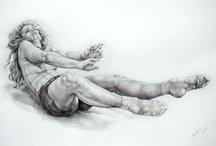 My dance drawings / series of drawings of contemporary dance by Karolina Szymkiewicz - 2012