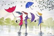 Backgrounds - umbrellas / by Beryl Starr