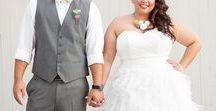 plus size brides / you can be a happy bride at any size or shape! i sometimes have to remind myself of it.
