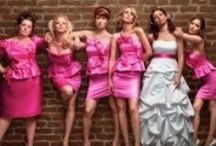 Bridesmaids-my giirls :) / I couldn't do this without you. Here's a (hopefully) helpful inspiration board for choosing your unique fashionista style. I <3 you all!  Colors: Dusty rose/blush pink Style: romantic, vintage-inspired, floral? Silhouette: whatever your <3 desires, knee-length (see pics), I prefer no halters and no strapless, but am flexible / by Elizabeth