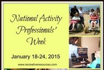 Recreation and Activity Professionals / Great information and inspiration for those that work with the elderly!
