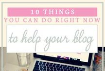 Blogging Tips and Tricks / Learn how to start a blog, manage your social media and rock your editorial calendar!