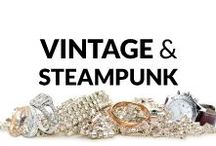 Vintage & Steampunk Jewelry / Here you find many fresh and inspiring ideas of vintage or steampunk jewelry! Necklaces & Pendants, Bracelets, Rings, Earrings, Brooches and Men's Jewelry... So, get some inspiration or just have a look and relax :)