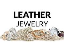 Leather Jewelry / Here you find many fresh and inspiring ideas of leather jewelry! Necklaces & Pendants, Bracelets, Rings, Earrings, Brooches and Men's Jewelry... So, get some inspiration or just have a look and relax :)