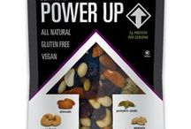 Gourmet Nut Power Up Bags / Power Up the natural way. 3 meals a day just doesn't cut it anymore. Our bodies need consistent energy levels throughout the day in order to function at their best. And let's face it, (if you dare) sugary sweets, questionable supplements, and artificial boosters aren't the answer. Our snack mixes provide the nutrition and satisfaction your body and taste buds crave. So, Power Up your snacking and make the most of your day.