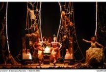 """NELLA CENERE / """"Nella Cenere"""" (2008), uno spettacolo di Giovanna Facciolo, con Adele Amato de Serpis, Cristina Messere, Valentina Carbonara. Scene di Roberto Crea. Foto di Pino Miraglia"""