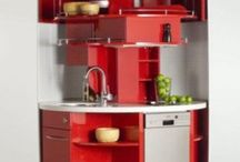 Small Kitchens / I really like small space living.  Clean and compact.