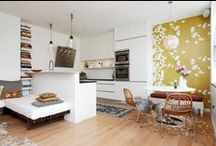 Small Space Living / What I would do to live in a small space again.  The less square footage, the less fuss.