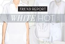 'Trend Report' - White Hot / 'Trend Report' Spring Summer 15 is all about white on white, all white everything, don't spill your drink, WHITE HOT fashion!