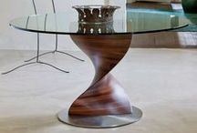 Porada / Contemporary Italian wooden furniture designs. Glass and wood dining tables, bookcases, coffee tables and sideboards.