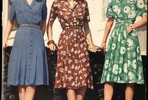 40s style / Fashion 1940s