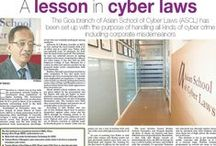 Press mentions / Asian School of Cyber Laws - a few press mentions