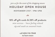 Holidays R Us! / Holidays are done right at A Glo Spa & Salon Co.!