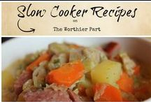 Slow Cooker Recipes / Ideas for easy, cook on their own meals for meat eaters -- easy for working moms