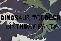 Dinosaur Toddler Birthday Party