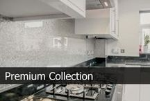 Premium Splashback Collection / This collection consists of natural minerals applied by hand using a unique processes in multiple layers on a toughened glass creating the most beautiful textured design on glass. View more on http://www.creoglass.co.uk/