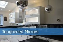 Toughened Mirror Splashback / Toughened Glass Mirror Kitchen Splashbacks are hard to come by so when you come across one be sure to get one. In comparison to standard mirror Toughened Mirrors can withstand the high temperature of your cooker. Don't try to cut corners with just any mirror, this might turn up to be more expensive than you would expect.