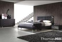 Senger / Eksklusive design senger i skinn og tekstil.
