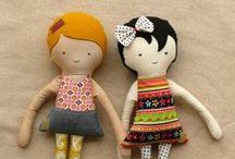 poupées de chiffon & tricottées / by Francine Brie