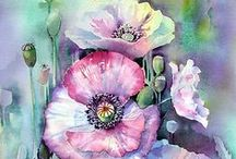 Art: Flowers / Flowers in vases can be found on the Art: Still Life board at https://www.pinterest.com/charmainezoe2/art-still-life/ / by Charmaine Zoe