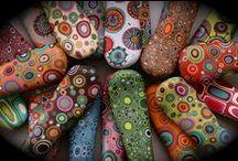 Stones, rocks- painted- Kameny malované