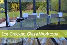 Ice Cracked Glass Worktops / Ice Cracked Glass Worktops are high end quality design made from three different types of glass sandwiched together. Installed by CreoGlass Design (London/Watford, UK). We design, manufacture and fit custom made non-scratch, ice-cracked glass kitchen and bathroom splashbacks and worktops. If you are you looking for quality kitchen glass splashbacks and worktops contact us on (+44) 800 012 4807, sales@creoglass.co.uk. For more please visit our website www.creoglass.co.uk.