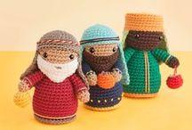 Tejiendo la Navidad (agujas y crochet) / Patrones gratuitos patterns free