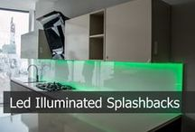 """Led Kitchen Splashbacks / LED Lights are available in various styles, colours and layouts. Most popular are horizontal """"multi coloured"""" and """"warm white"""" light. There are further options like dimmable, water-proof , splash-proof, continues e.t.c. Speak to our designers or your builder to discuss the best option for your kitchen."""