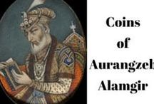 Collection of Aurangzeb Alamgir Coins / Coins used during the Great King Aurangzeb Rulership.