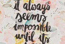 Mietelauseita - inspirational words