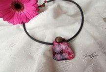 Mes créations en pâte polymère / Colliers, pendentifs, bracelets, bagues, broches et autres objets