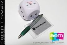 Promotional Giveaways / Advanced Exhibit Methods offers a variety of items that can display your message or company logo.