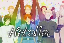 "☆ Hetalia ☆ / ""Draw a circle that's the Earth"" ""Make Pasta Not War!"" (I also post Himaruya's drawings)"