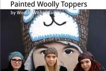 Painted Woolly Toppers / My new book - 10 Hats designed for hand-dyed, painted & variegated yarns. More info here: http://www.woollywormhead.com/painted-woolly-toppers/