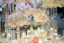 Rosa e Bianco con Cristalli / Pink and white with cristals wedding ideas